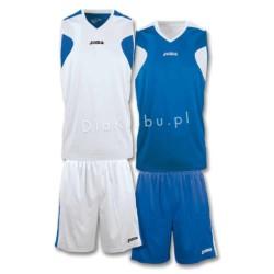 Stroje koszykarskie JOMA Reversible biało niebieski i niebiesko biały