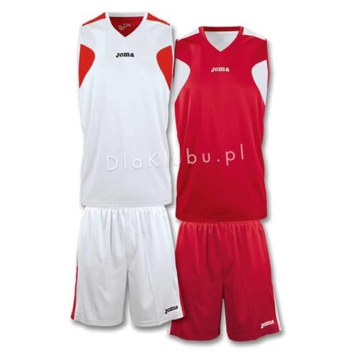 Stroje koszykarskie JOMA Reversible biało czerwony i czerwono biały