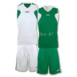 Stroje koszykarskie JOMA Reversible biało zielony i zielono biały