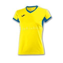 Koszulka sportowa damska JOMA Champion IV żółto niebieska