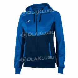 Bluza z kapturem damska JOMA Essential niebiesko-czarna