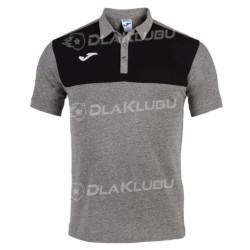 Koszulka polo JOMA Winner szaro-czarna