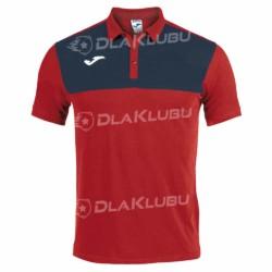 Koszulka polo JOMA Winner czerwono-granatowa