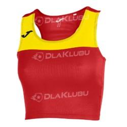 Top damski bez rękawów JOMA Race czerwono-żółty