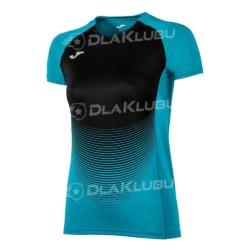 Koszulka siatkarska z krótkim rękawem damska JOMA Elite IV turkusowo-czarna