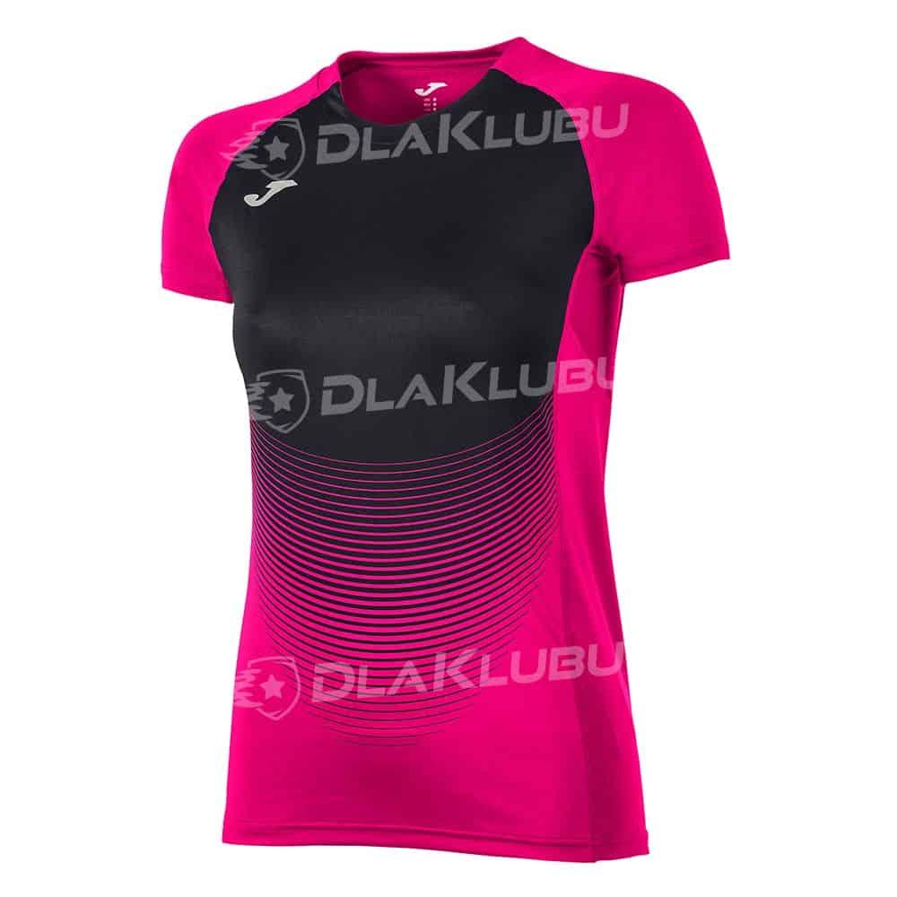 Koszulka siatkarska z krótkim rękawem damska JOMA Elite IV różowo czarna