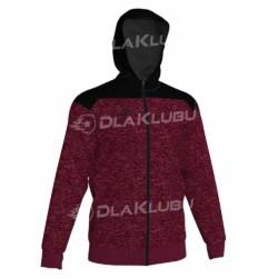 Bluza dresowa z kapturem JOMA Winner bordowo czarna