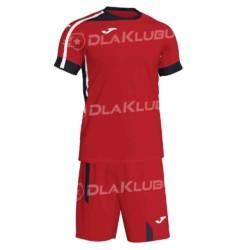Komplet piłkarski JOMA Roma II czerwono czarny