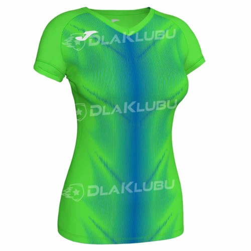 Koszulka biegowa damska JOMA Olimpia zielono niebiesk