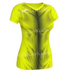 Koszulka biegowa damska JOMA Olimpia żółto czarna