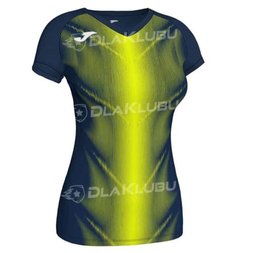 Koszulka biegowa damska JOMA Olimpia granatowo żółta