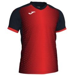Koszulka piłkarska JOMA Supernova czarno czerwona
