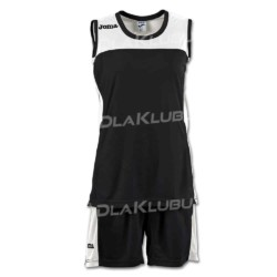 Strój koszykarski damski JOMA Set Space II czarno biały