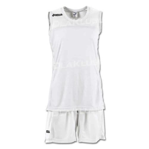 Strój koszykarski damski JOMA Set Space II biały