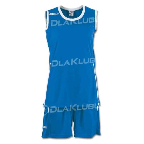 Strój koszykarski damski JOMA Set Space II niebiesko biały