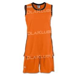 Strój koszykarski damski JOMA Set Space II pomarańczowo czarny