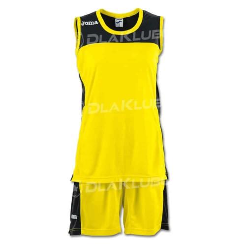 Strój koszykarski damski JOMA Set Space II żółto czarny