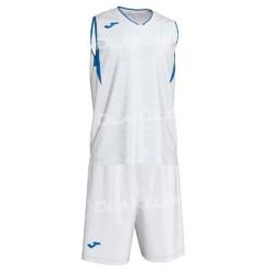 Strój koszykarski JOMA Campus biało niebieski