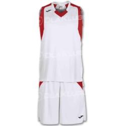 Strój koszykarski JOMA Final biało czerwony
