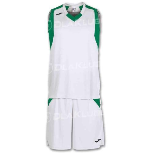 Strój koszykarski JOMA Final biało zielony