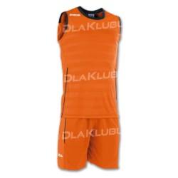Strój koszykarski JOMA Set Space II pomarańczowo czarny
