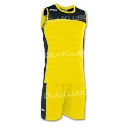 Strój koszykarski JOMA Set Space II żółto czarny