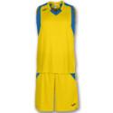 Strój koszykarski JOMA Final żółto niebieski
