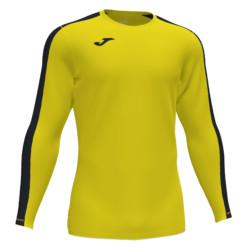 Koszulka piłkarska Joma Academy III żółto czarna długi rękaw 101658.901