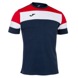 Koszulka piłkarska Joma Crew IV granatowo czerwona 101534.336