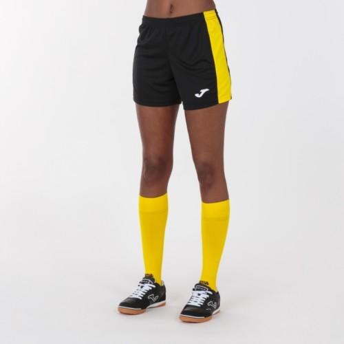 Spodenki sportowe damksie Joma Academy III czarno żółte 901142.109