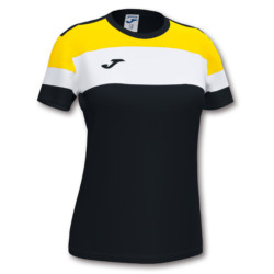 Koszulka sportowa damska Joma Crew IV czarno żółta 901039.109