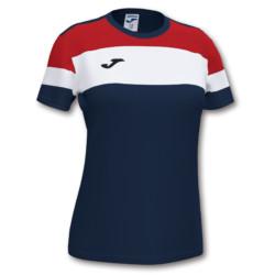 Koszulka sportowa damska Joma Crew IV granatowo czerwona 901039.336