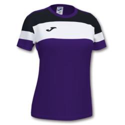 Koszulka sportowa damska Joma Crew IV fioletowo czarna 901039.551