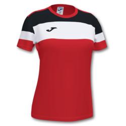 Koszulka sportowa damska Joma Crew IV czerwono czarna 901039.601