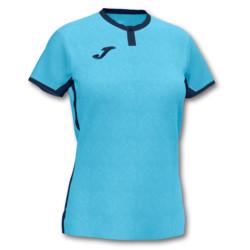 Koszulka sportowa damska Joma Toletum turkusowo granatowa 901045.013