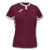 Koszulka sportowa damska Joma Toletum burgundowo biała 901045.672