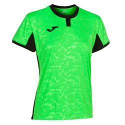 Koszulka sportowa damska Joma Toletum turkusowo fluo zielono czarna 901045.021