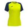 Koszulka sportowa damska Joma Academy IV żółto granatowa 901335.063