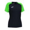 Koszulka sportowa damska Joma Academy IV czarno zielona 901335.117