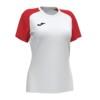 Koszulka sportowa damska Joma Academy IV biało czerwona 901335.206